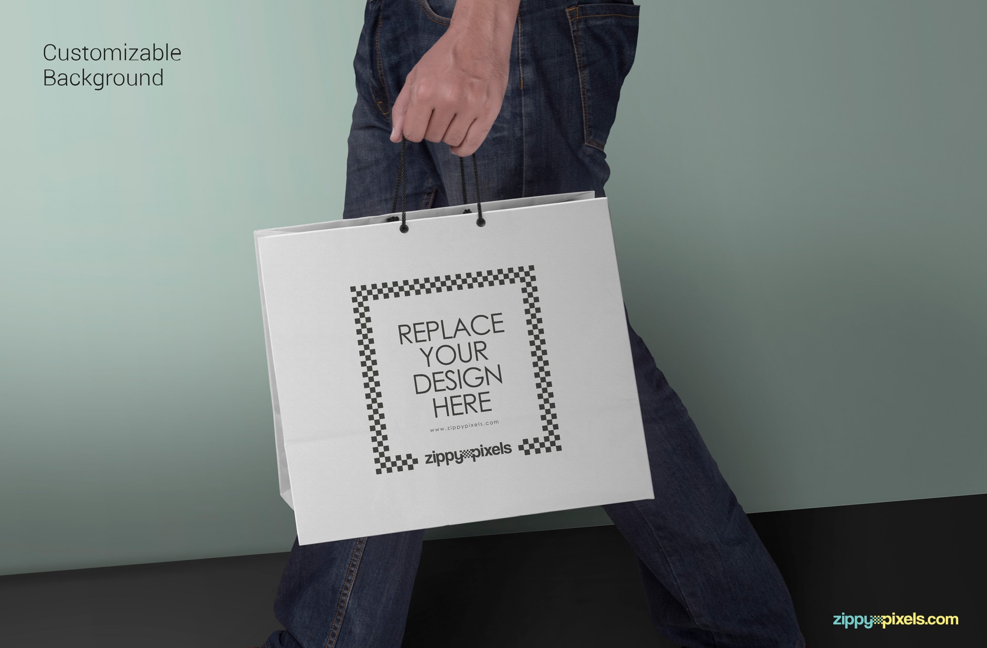 free customizable shopping bag psd