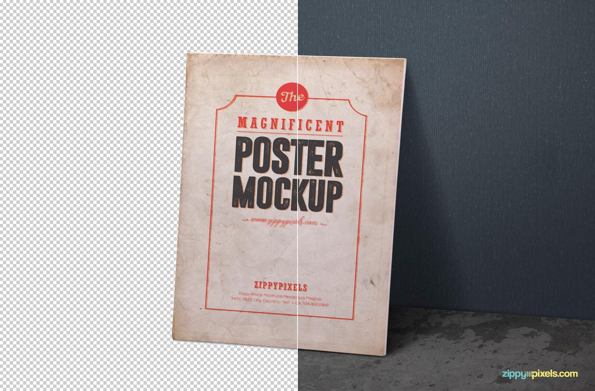 free vintage themed poster mock ups