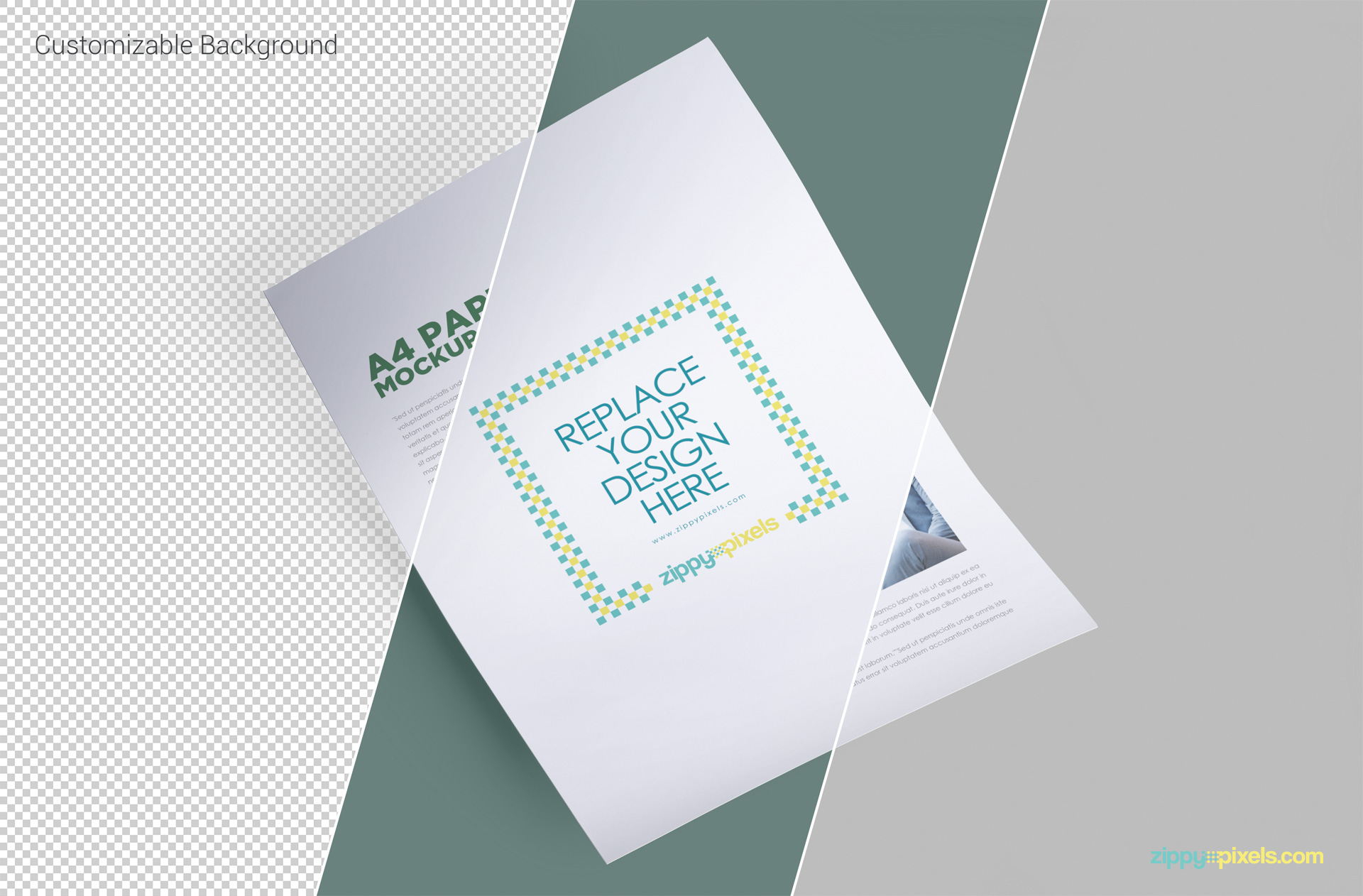 smart object based free letterhead mockup