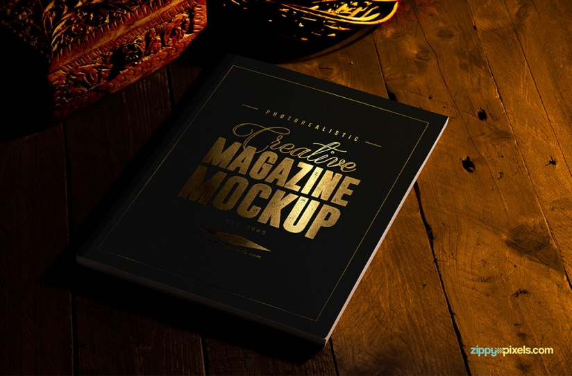 free mag mockup with customizable features