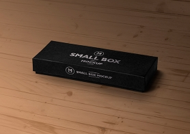 Free Box Mockup PSD With Customizable Top & Front  Design