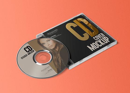 Download Cd Jewel Case Cd Label Mockup Free Psd Download Zippypixels Yellowimages Mockups