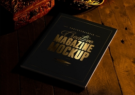 2 Free Magazine Mock-Ups With Stunning Gold Foil Effect (US Letter Size)