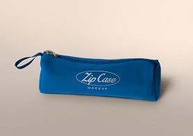 Free Pencil Case Mockup With Editable Logo & Color