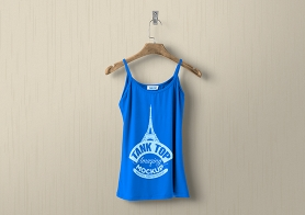 Free Women's Tank Top Mockup PSD In Hi-Res Detail