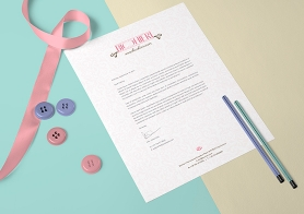 Free US Letter Size Paper Mock-Up