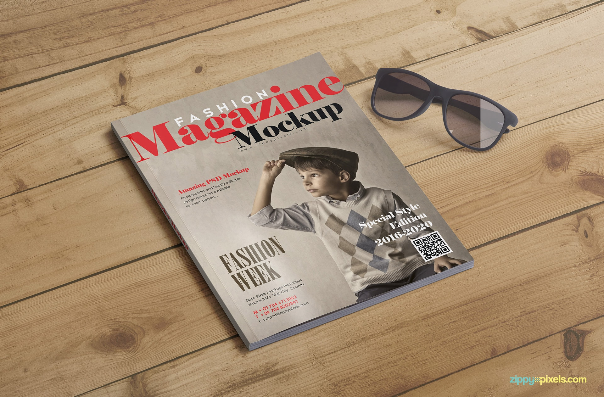 magazine cover mockups and inner page mockups