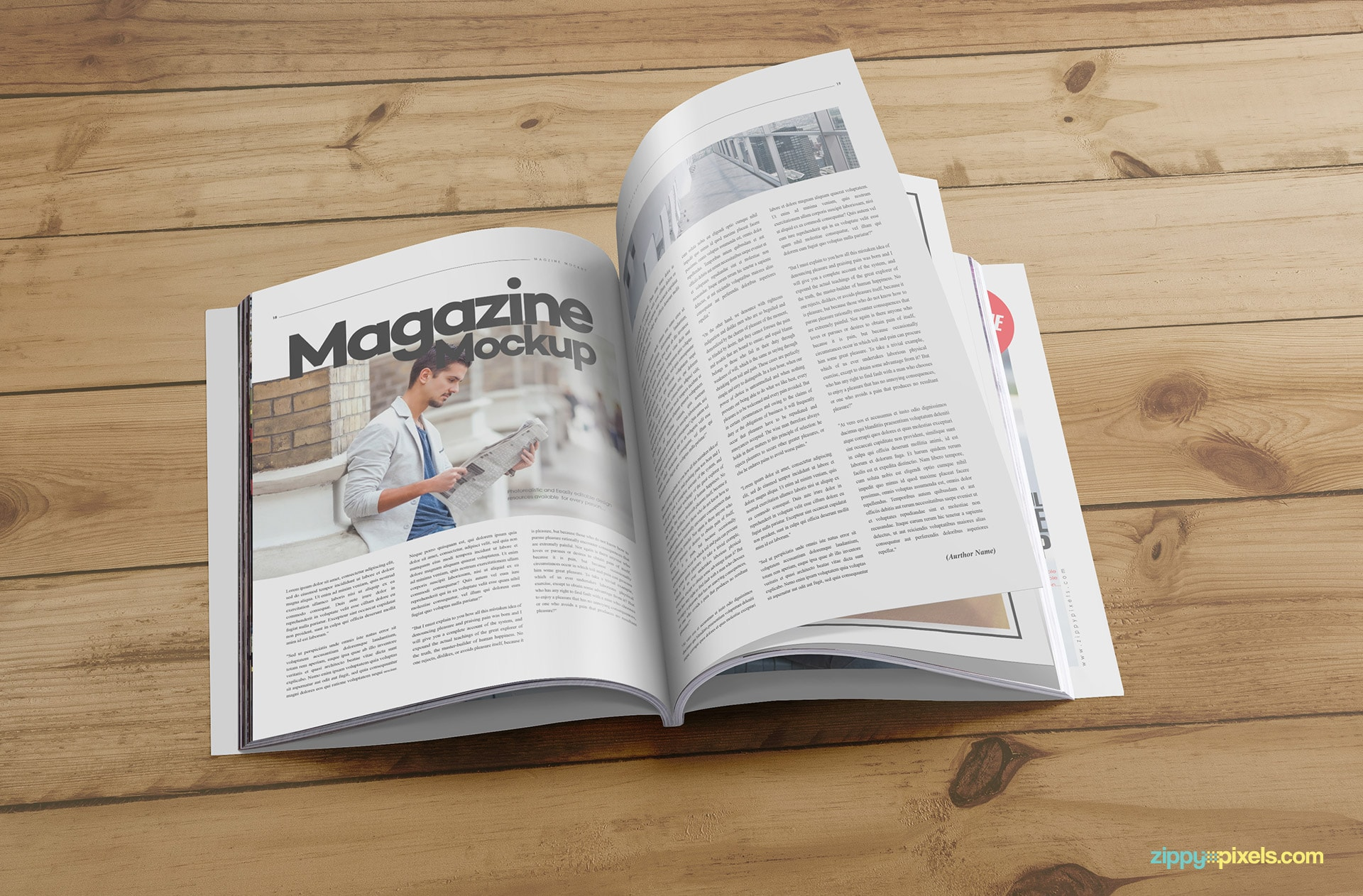 awesome magazine mockup psds in US letter size