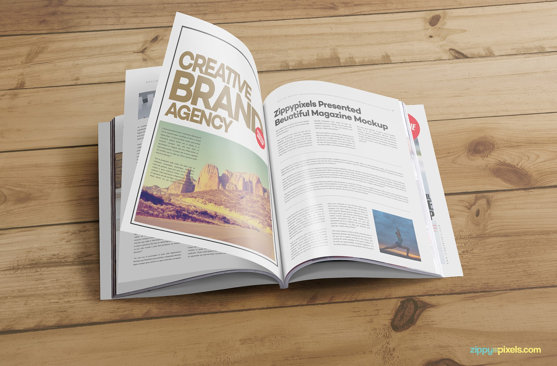 showcase your spread editorial designs with these photorealistic magazine psd mock ups