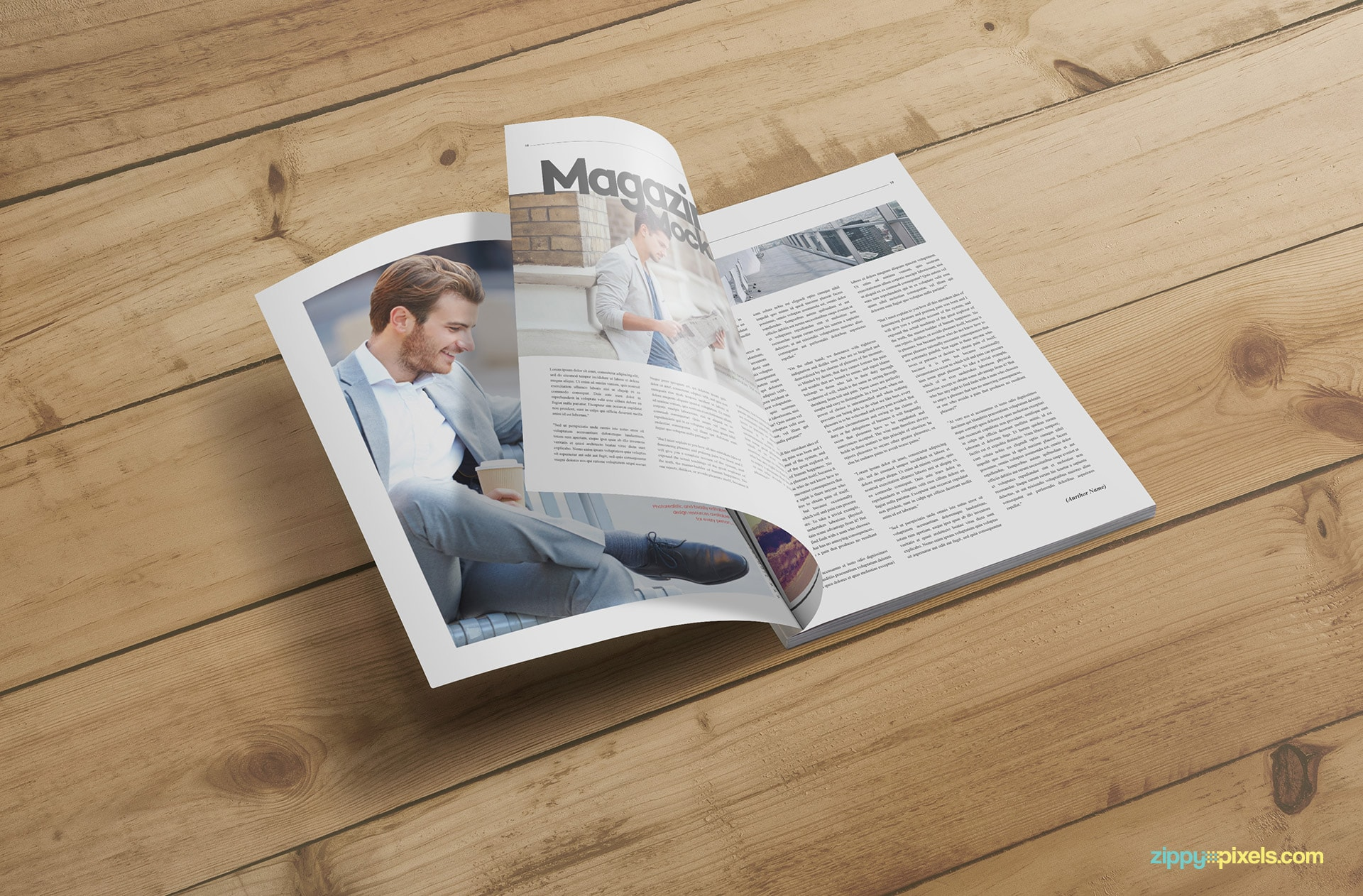 fashion magazine cover mockup design
