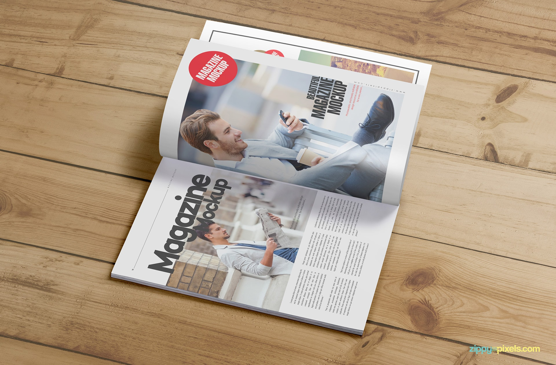 smart object based magazine cover mock ups