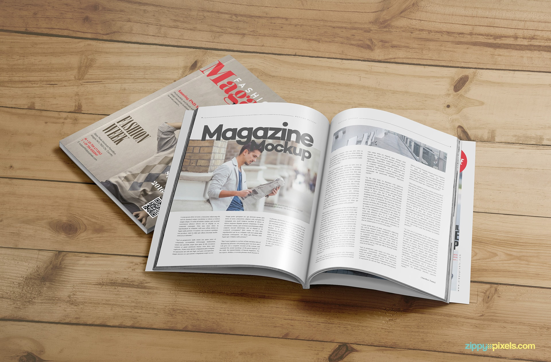 present all kinds of magazine designs