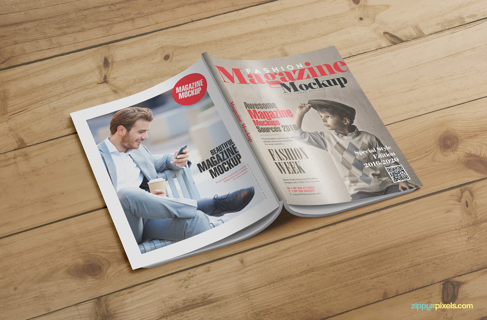 ready to use magazine mockups