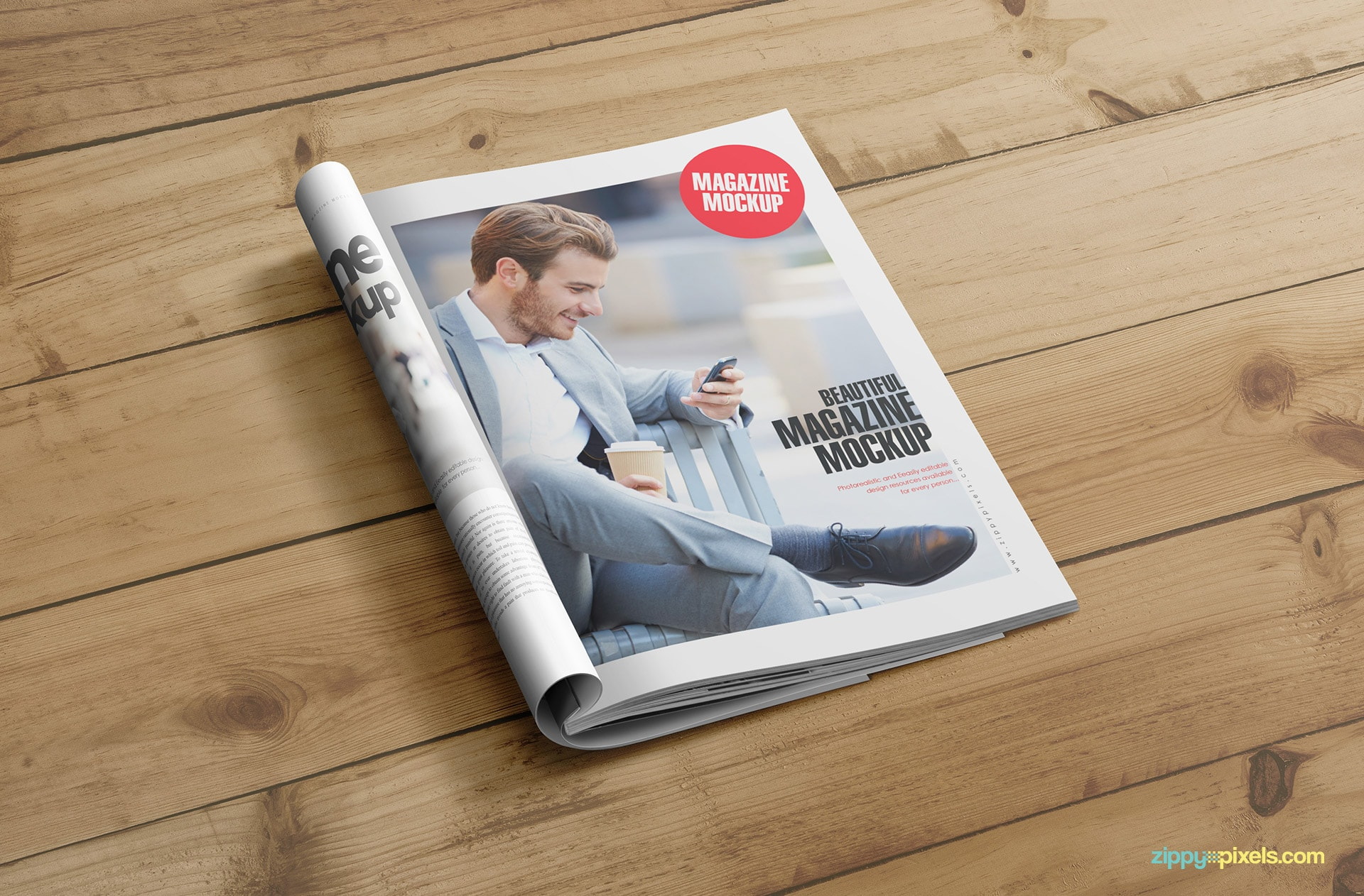 beautiful mockups for magazine designs