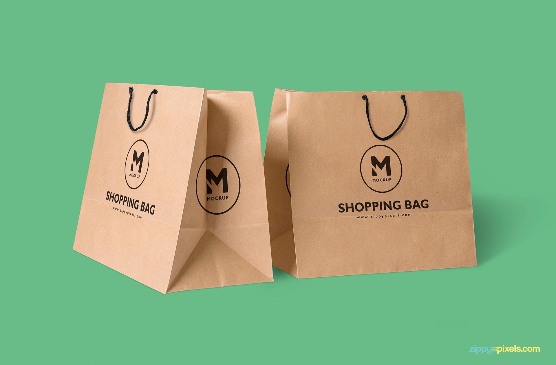 2-paper-bags-cardboard-mockups