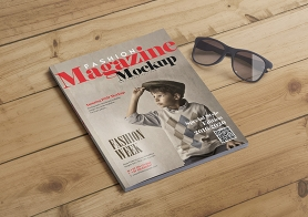 15 Fashion Magazine Cover Mockups & Inner Page Mockups (US Letter Size)
