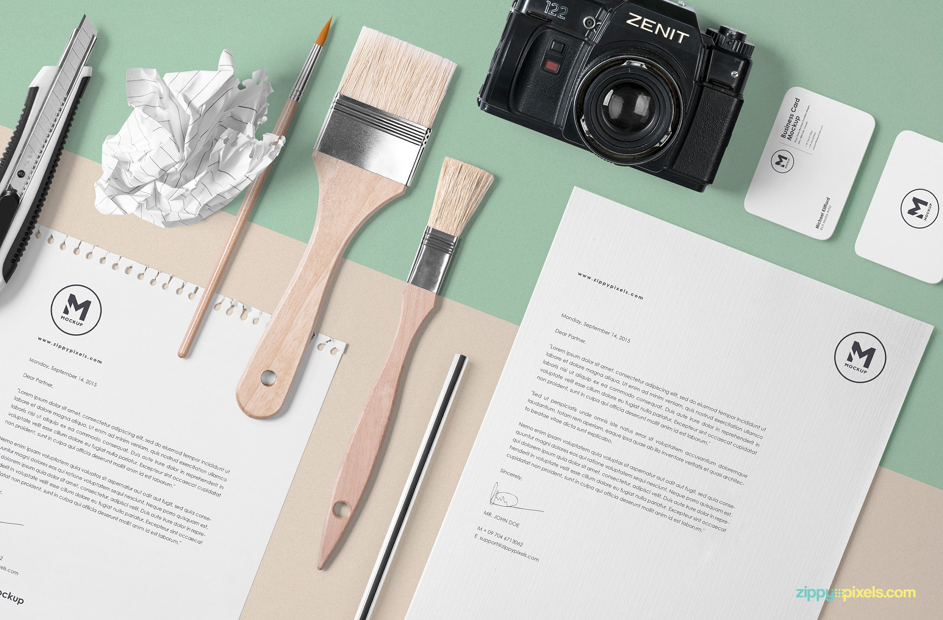 mockup-scene-letterhead-diary-paper-brushes-camera-card