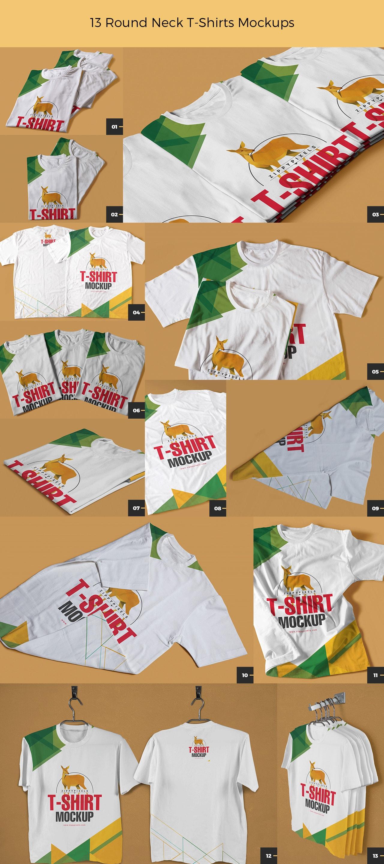 round-neck-t-shirt-mockups