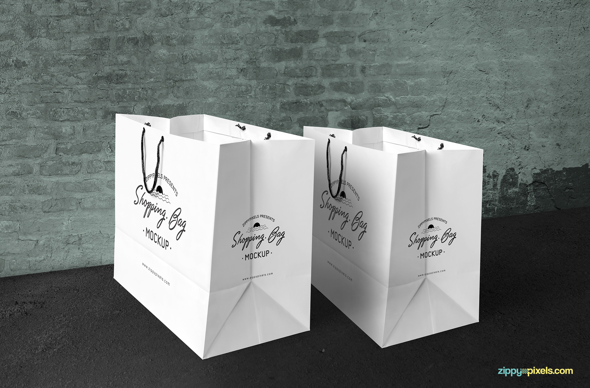 2-shopping-bag-mockups-placed-on-vintage-surface