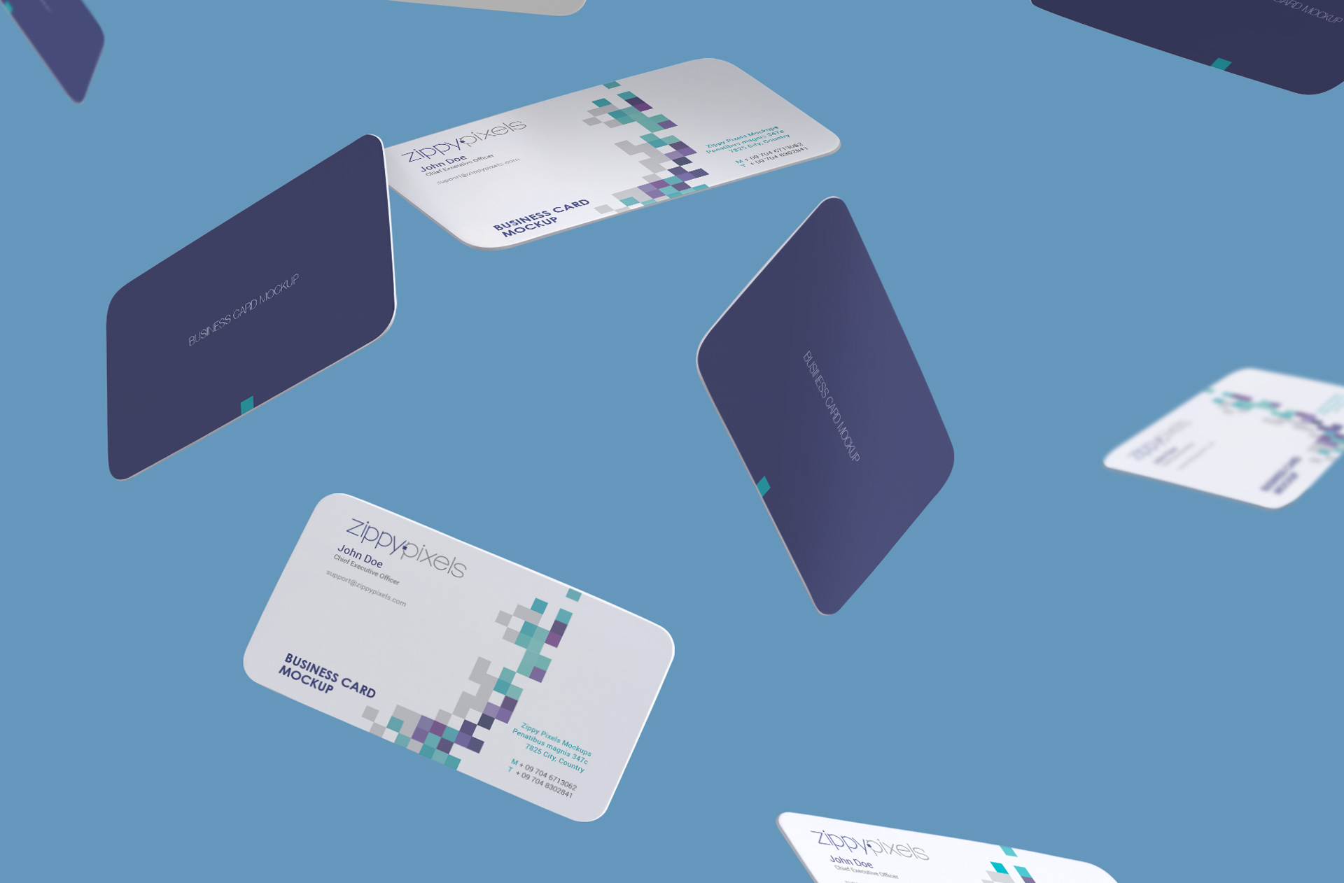 Free Gravity Business Card Mockup | ZippyPixels