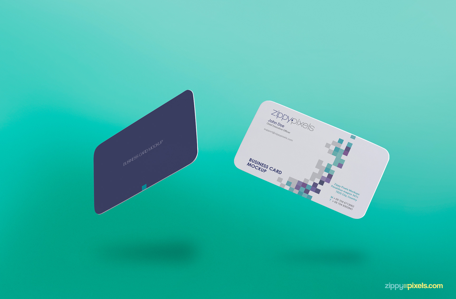 Free Gravity Business Card Mockup Zippypixels