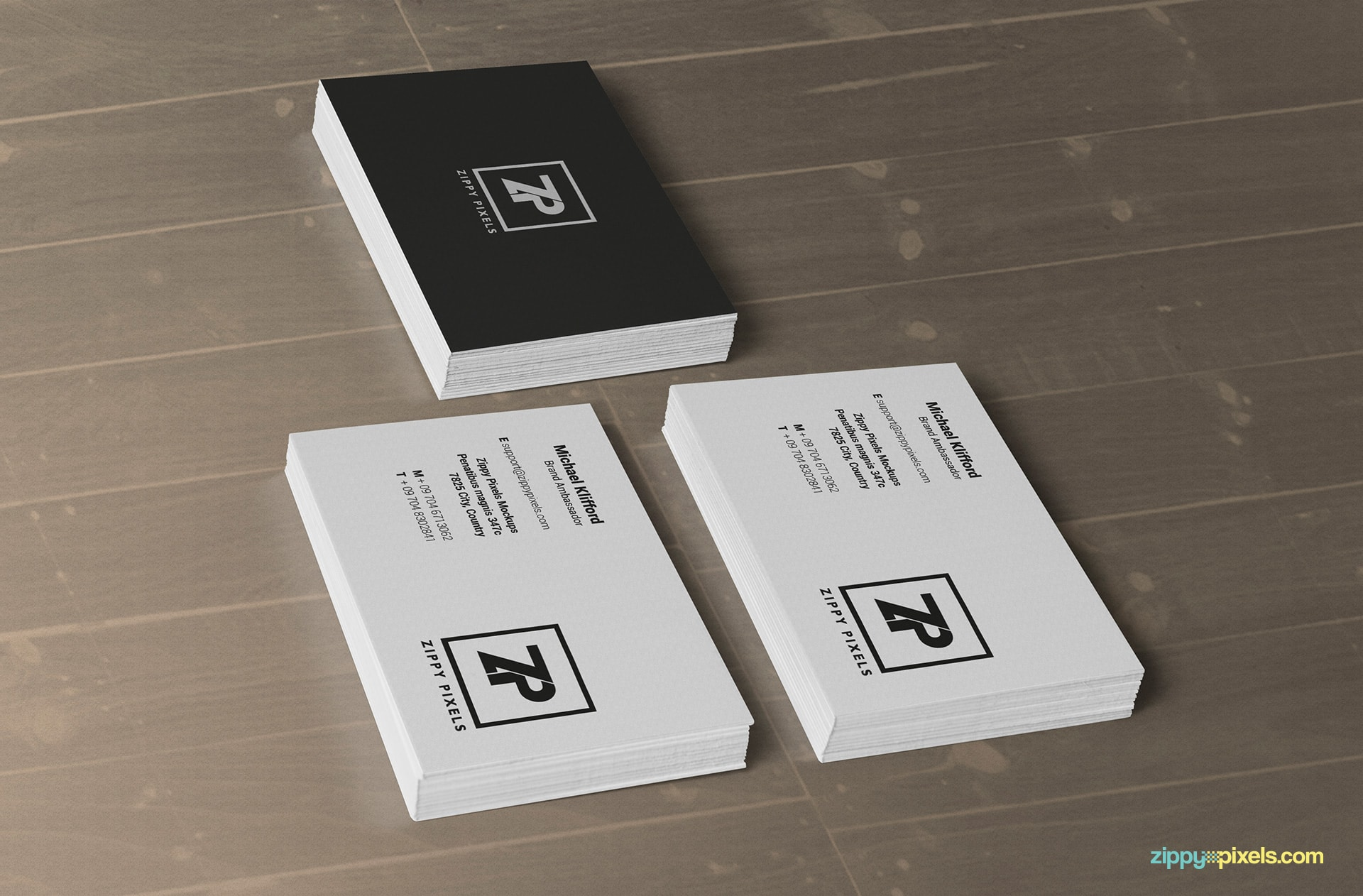three-stacks-business-card-mockups