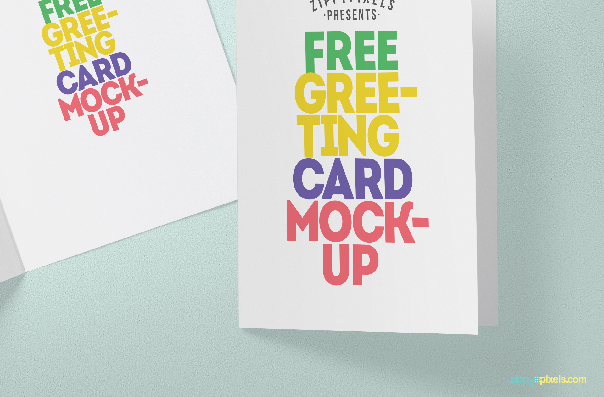 Smart object based free greeting card mock-up