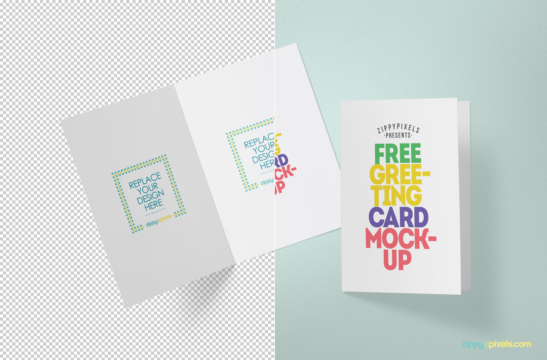 Free greeting card mockup zippypixels
