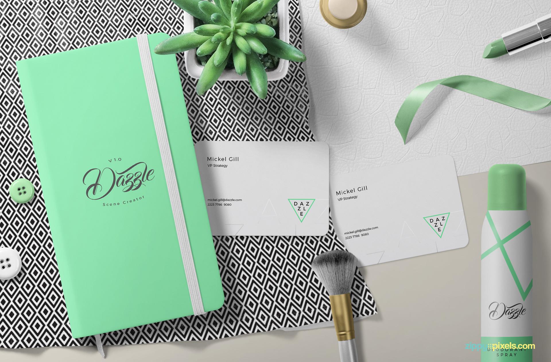 dazzle-scene-diary-planter-cards-shirt-tanktop-perfume-ribbon-lipstrick-nail-polish-02
