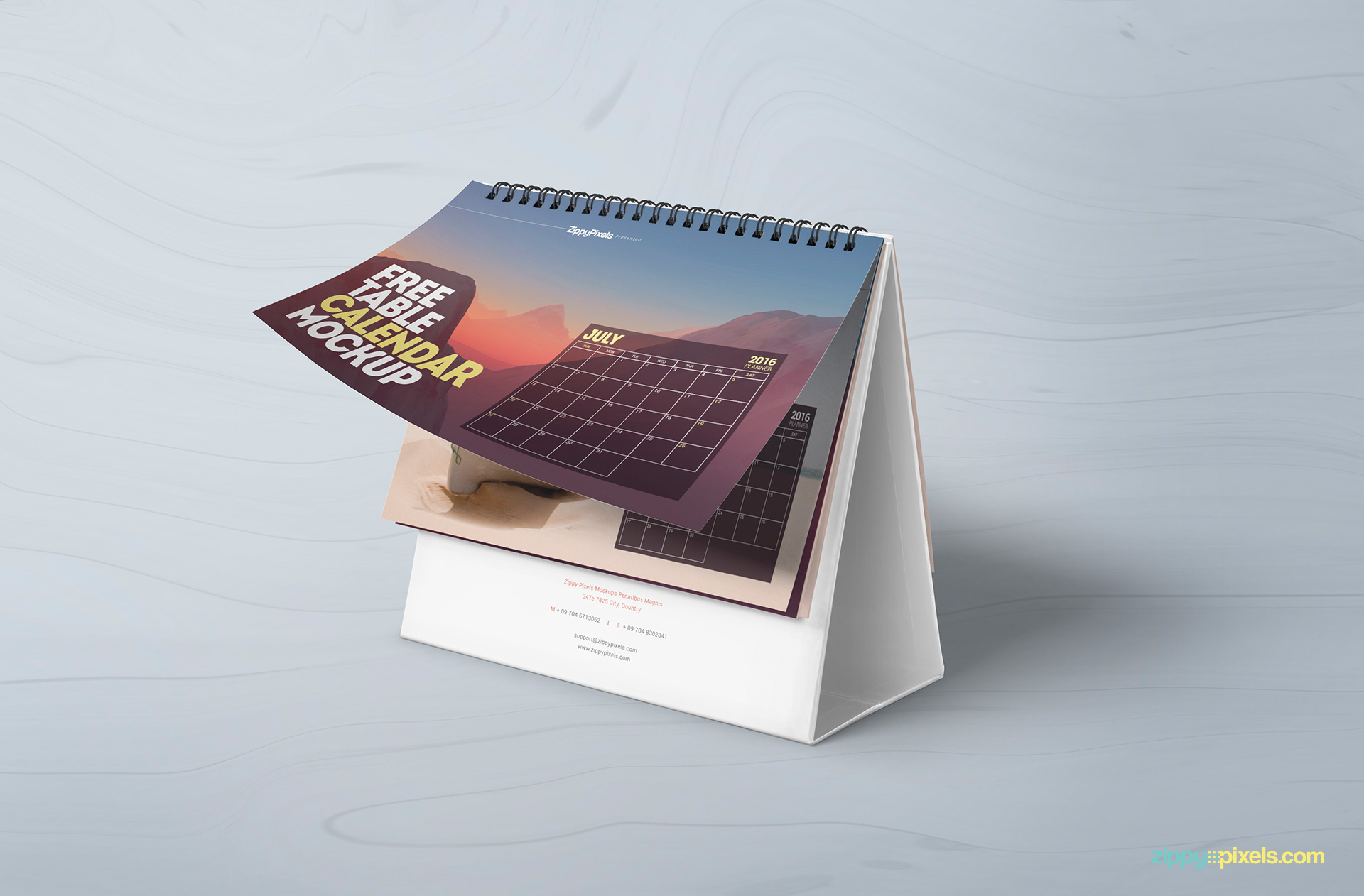 Table Calendar Mockup : Calendar mockup free psd download zippypixels