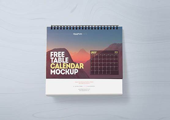 Table Calendar Psd : Free table calendar mockup zippypixels