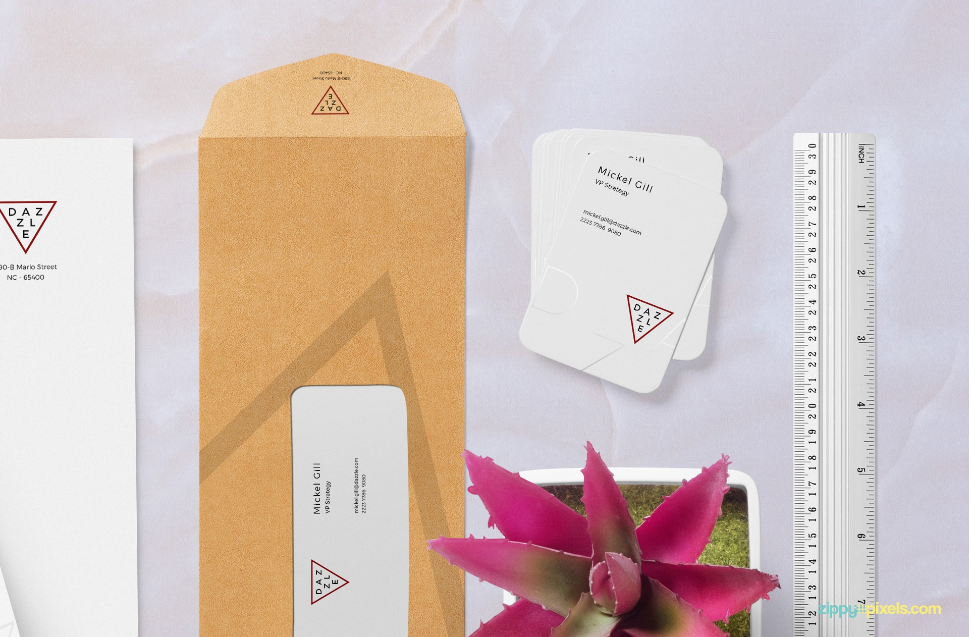 fully customizable free stationery mock-up for corporate branding