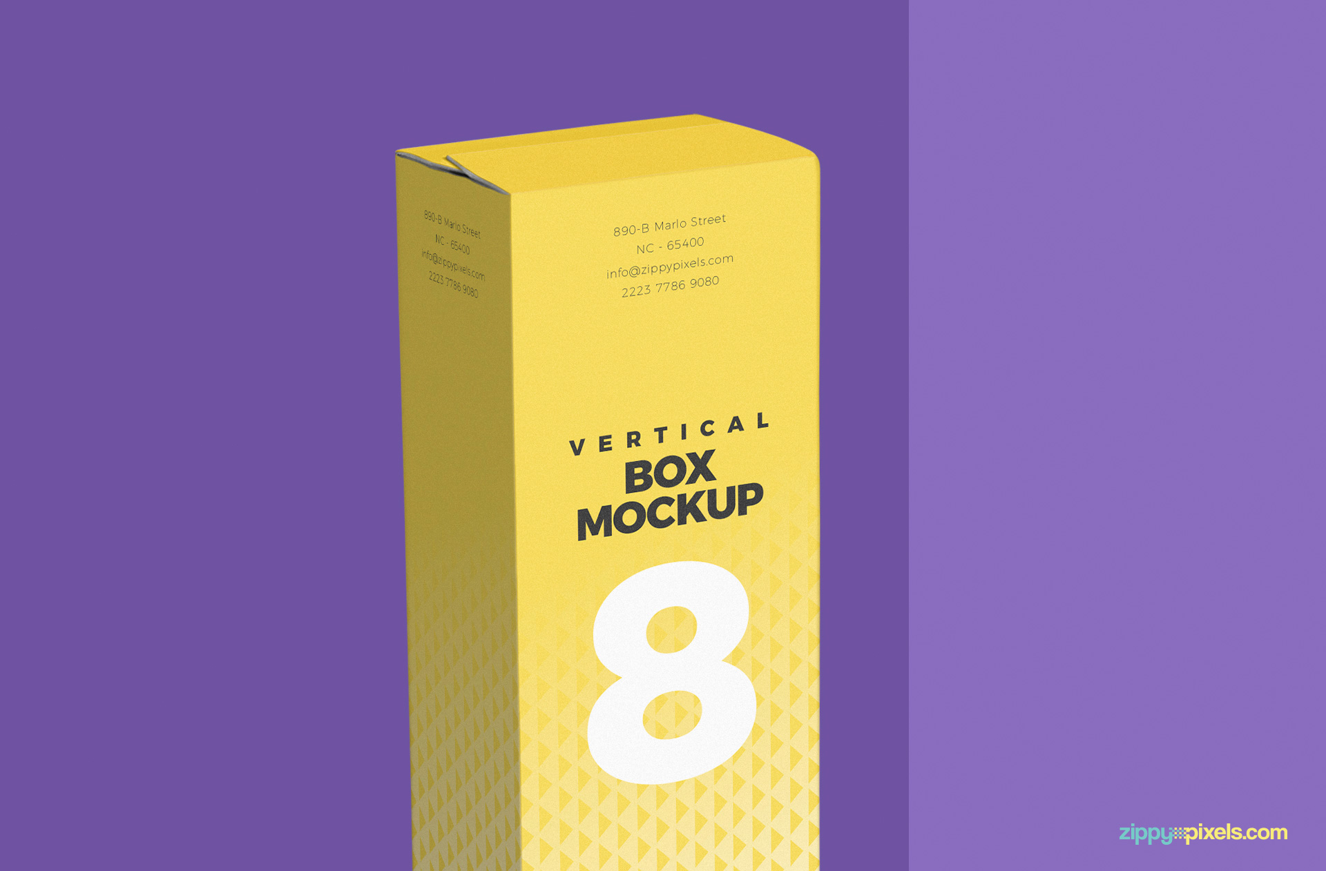 in focus upper part of packaging box mockup psd