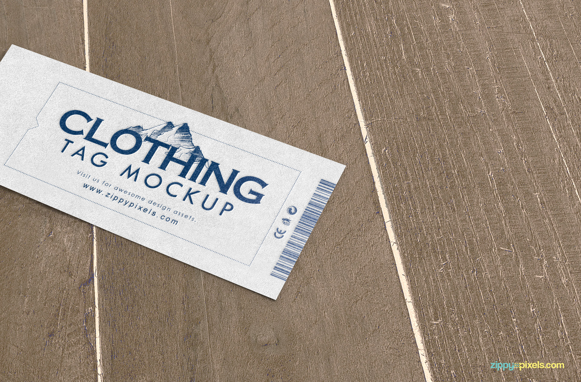 close up view of high quality tag mockup psd