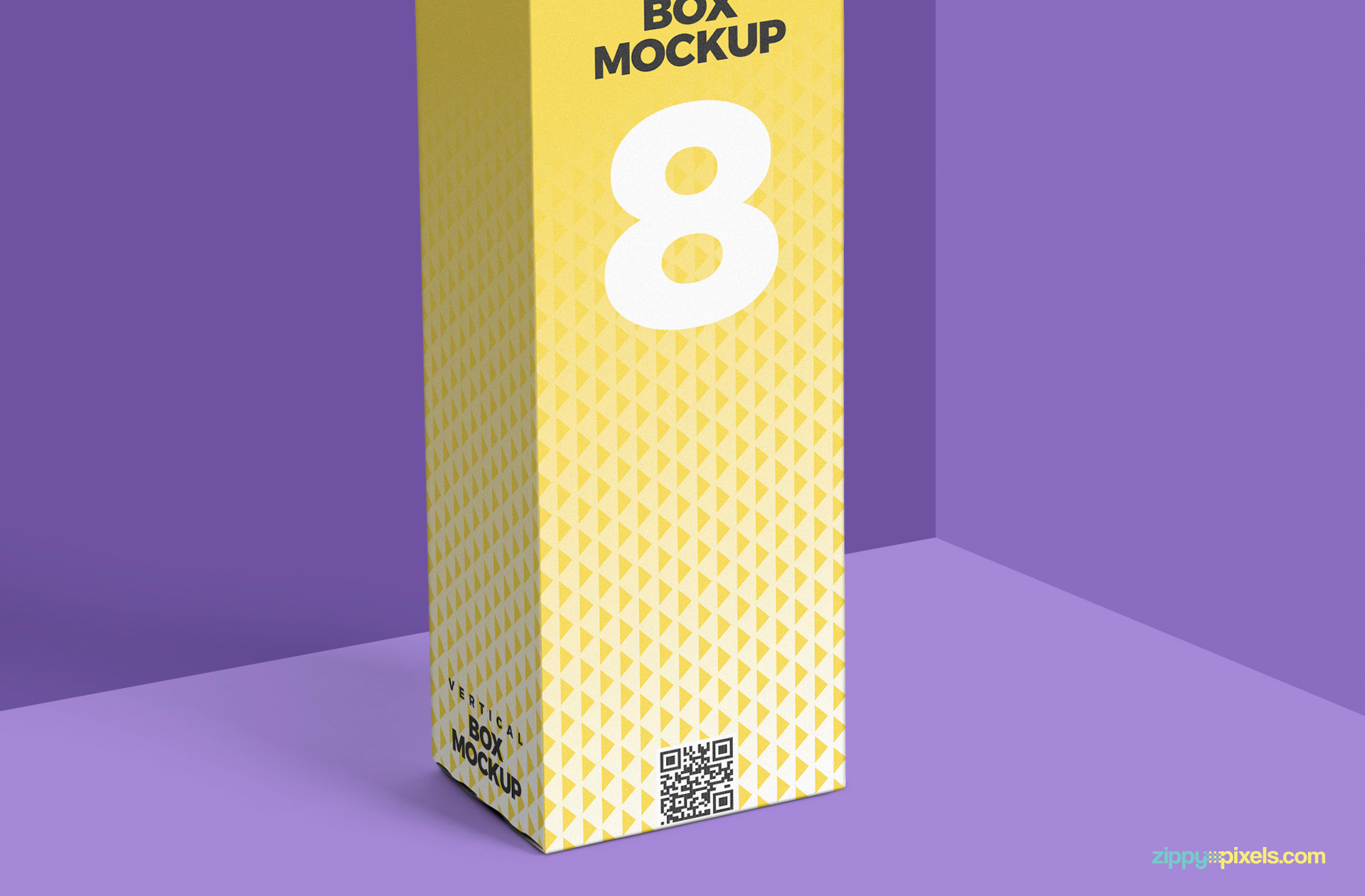 free vertical box mockup psd showing vertical box in close up