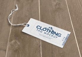 Customizable Free Clothing Tag Mockup PSD
