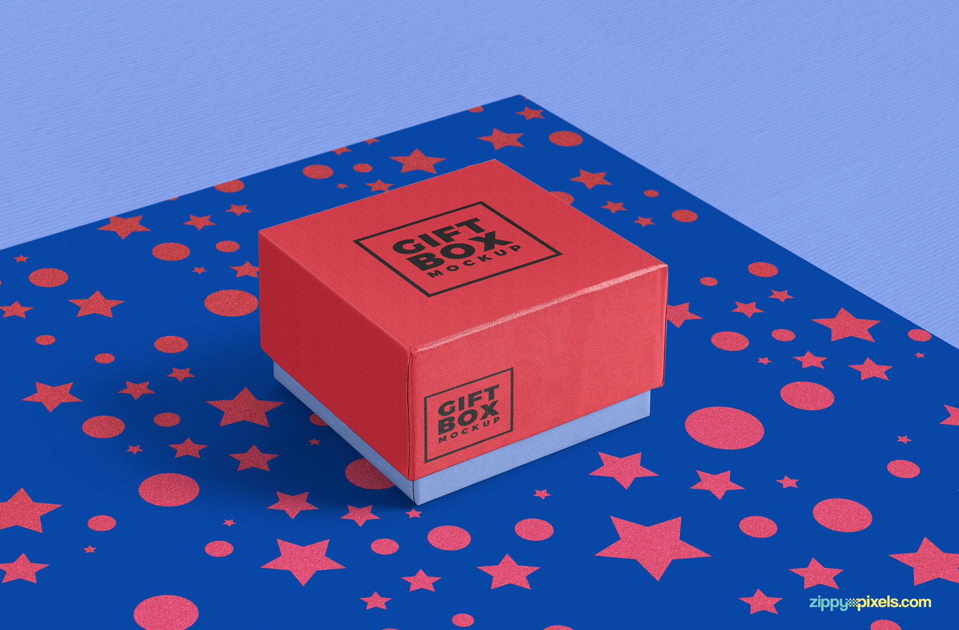 high resolution free gift box mockup psd in excellent mockup scene