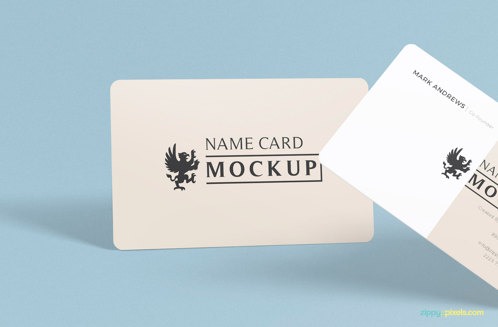 close up view of free name mockup psd which can be used for business cards and visiting cards