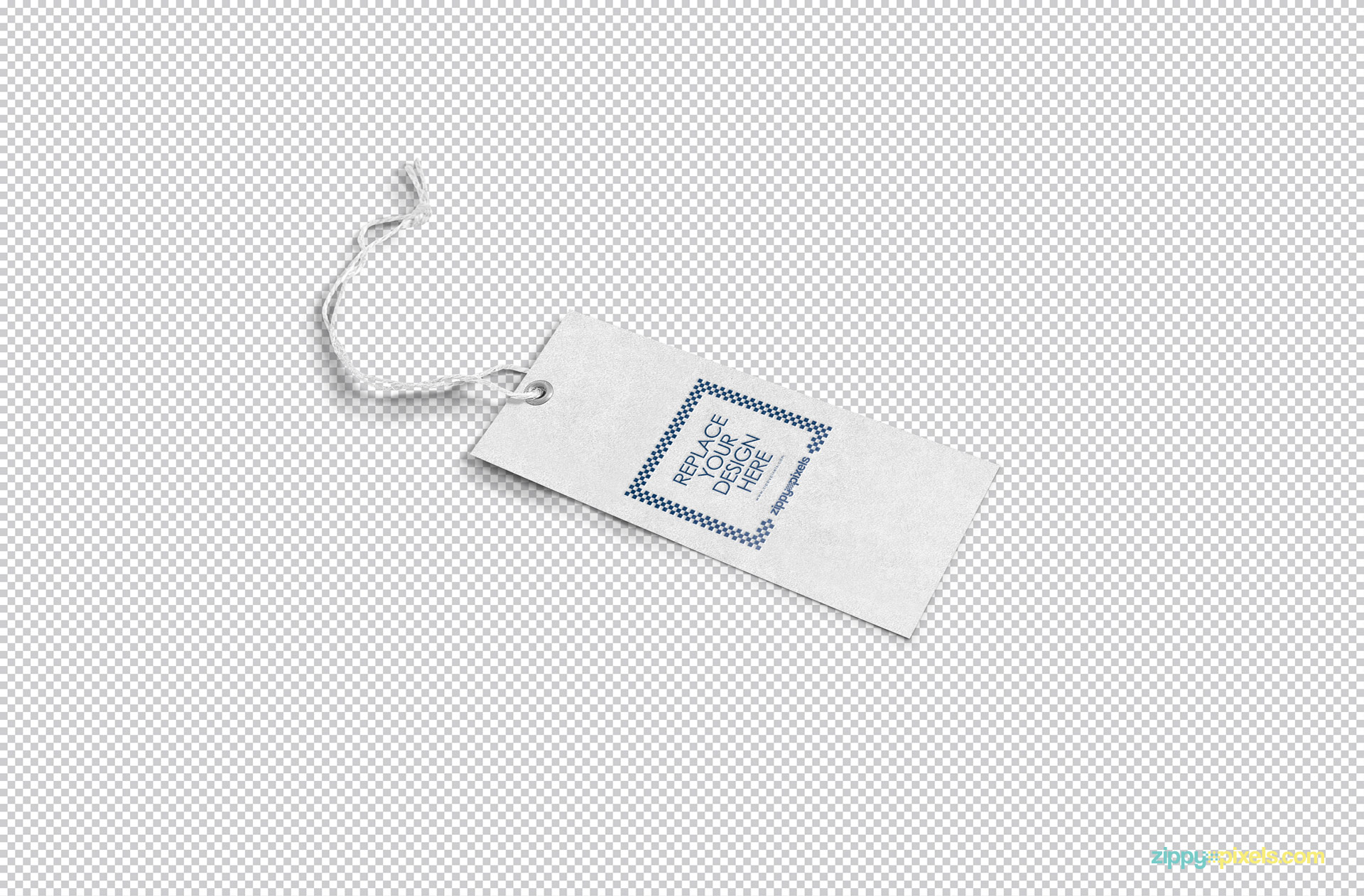 insert your design in fully customizable clothing tag mockup