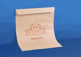 2 Serene Free C4 Envelope Mockup PSDs