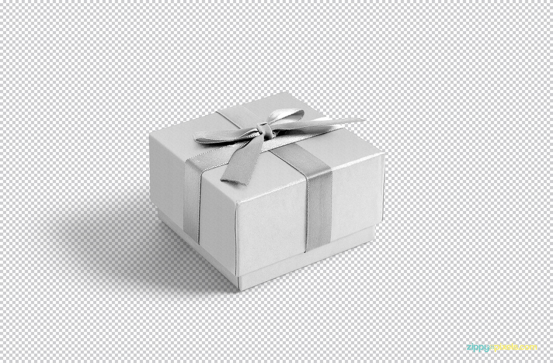 gift box mockup psd free which comes with full customization options