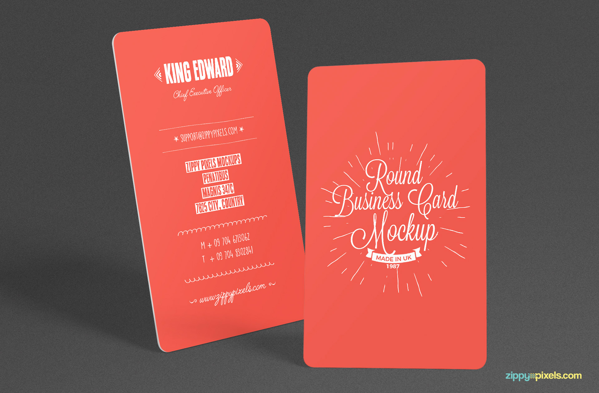 Free Stylish Round Business Card Mockup PSD | ZippyPixels