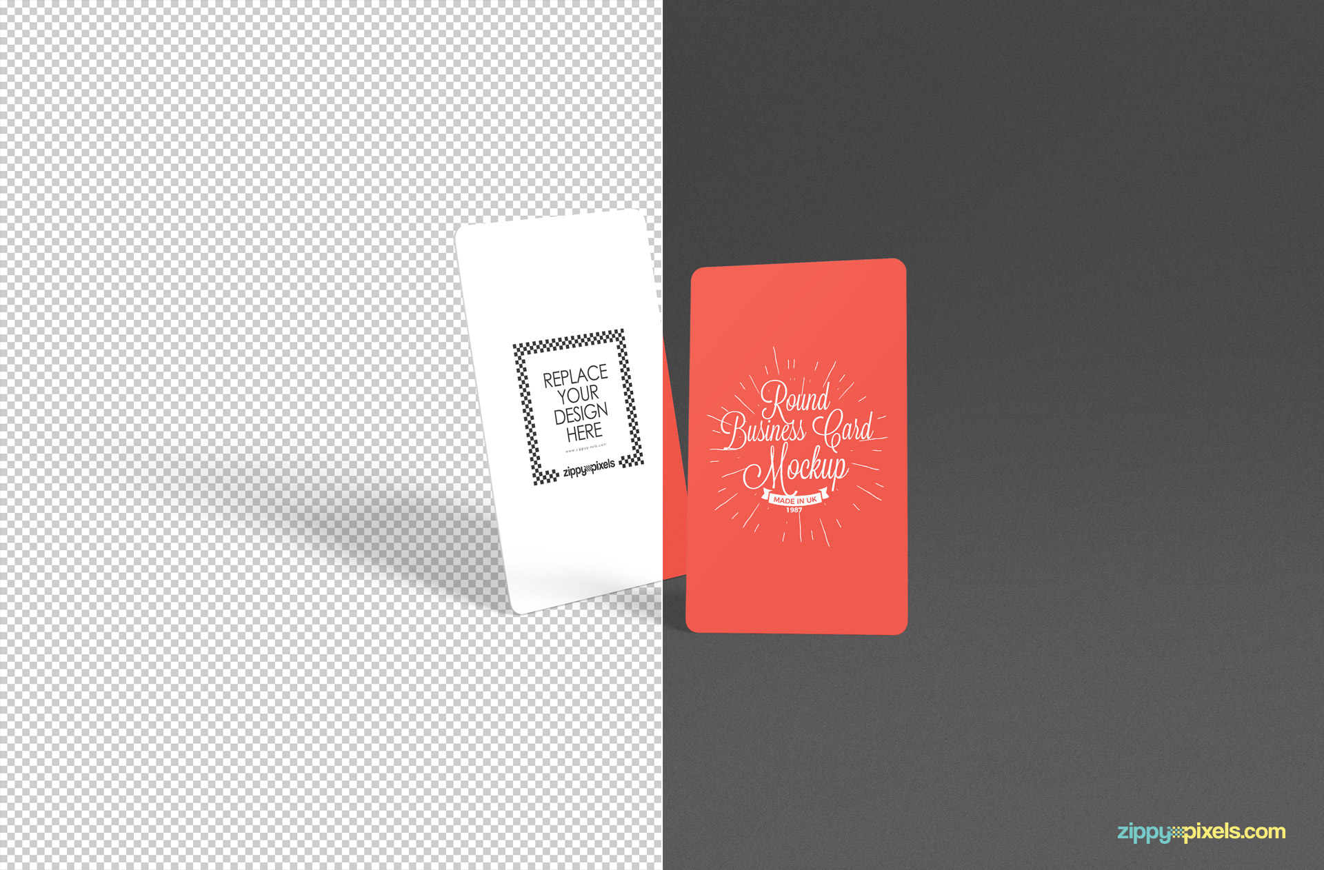 Highly customizable stylish free business card mockup