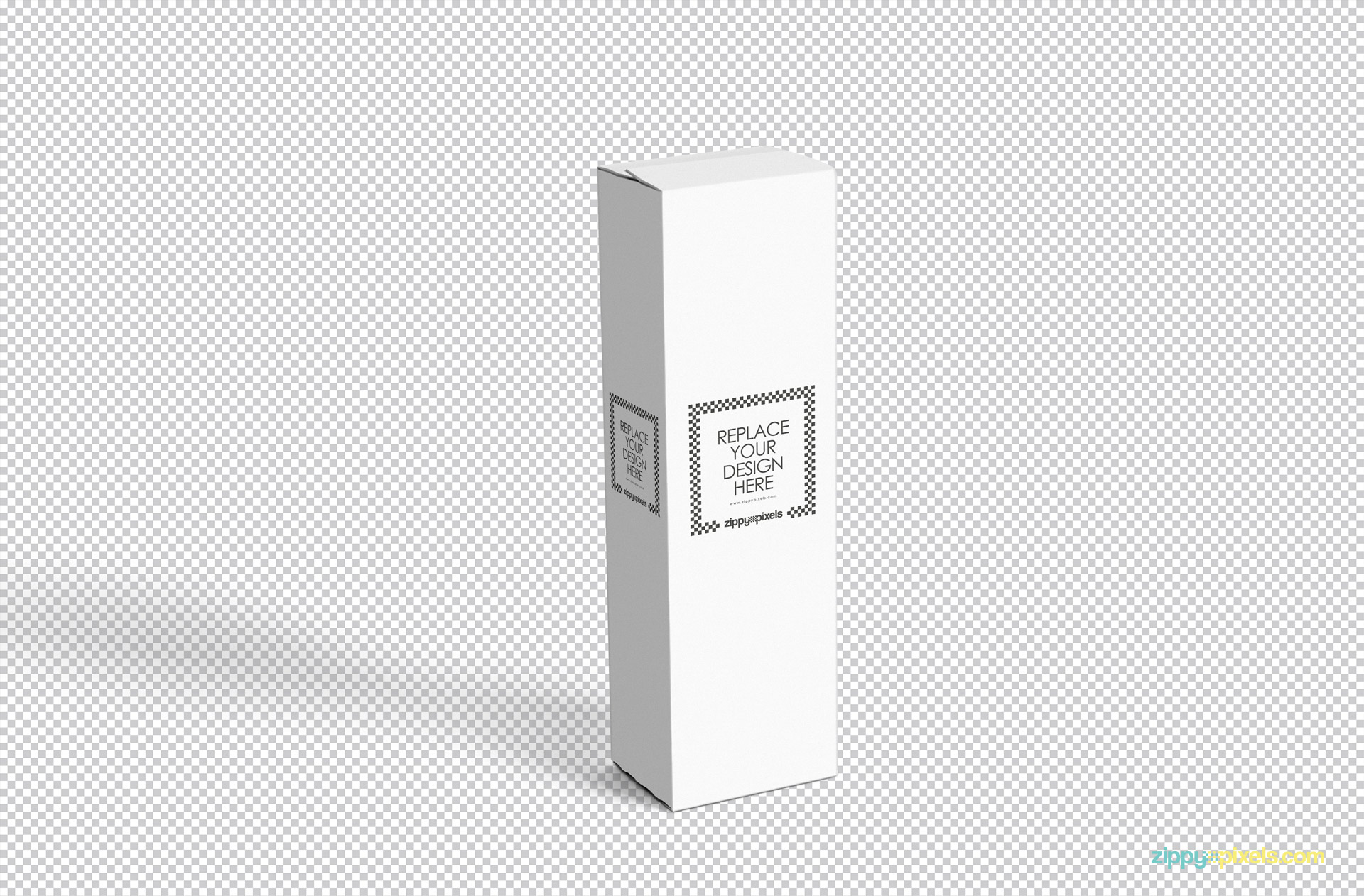 insert your design in fully customizable vertical box mockup psd free