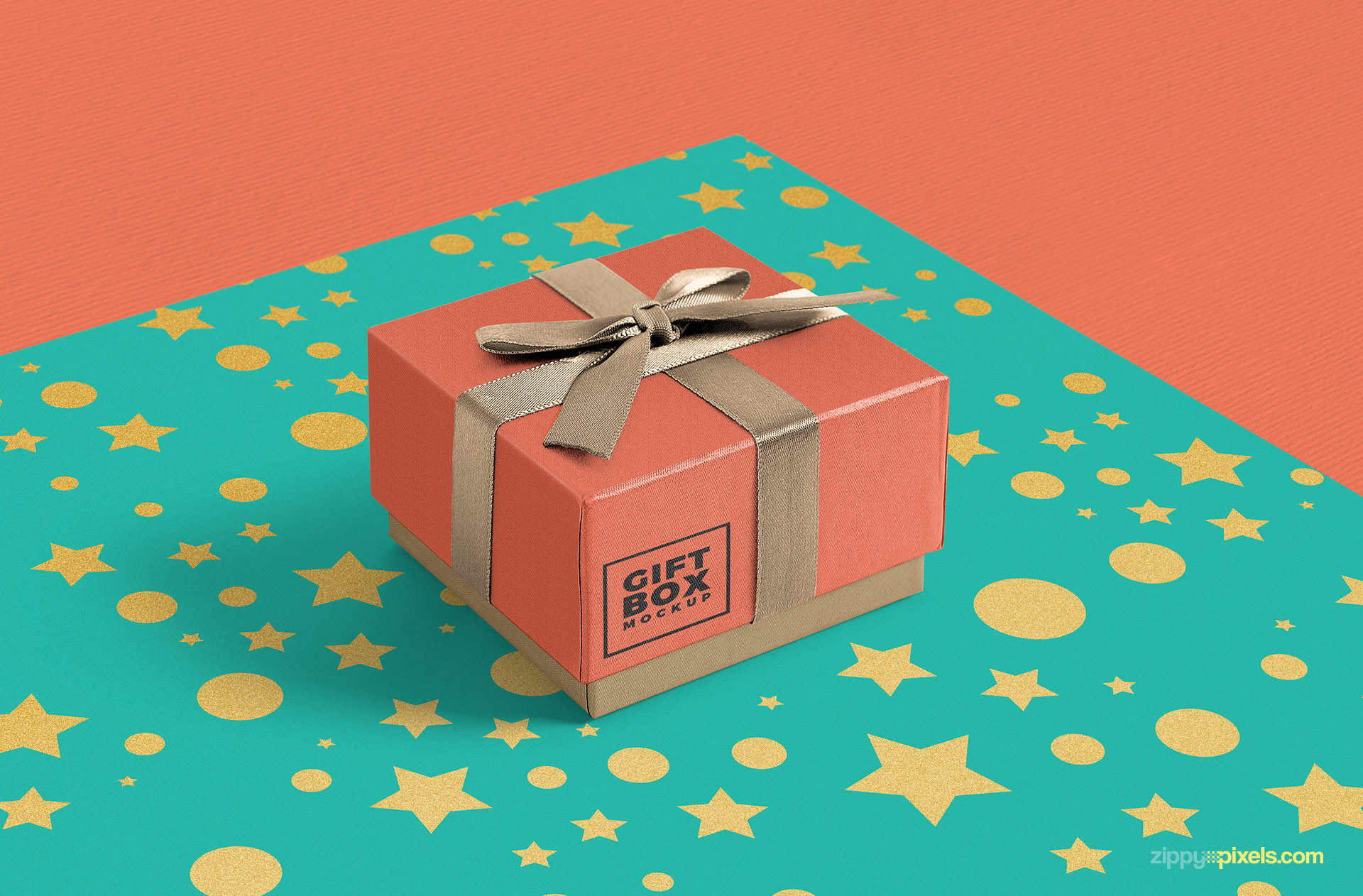 adjustable shadows of gorgeous free gift box mockup psd