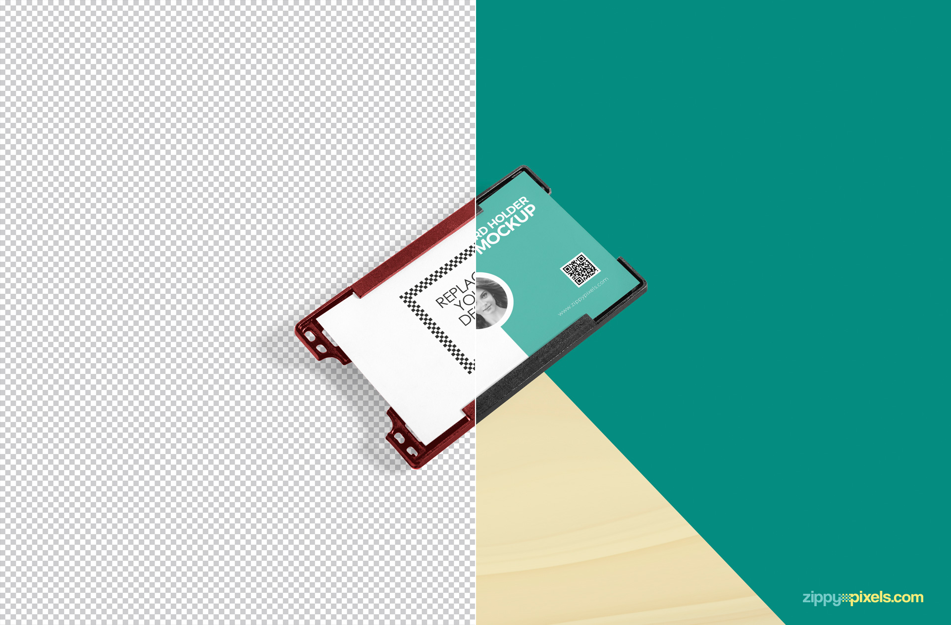 Id card holder mockup offering multi-purpose customizations