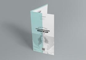 Slick Free 2 Fold Brochure Mockup PSD