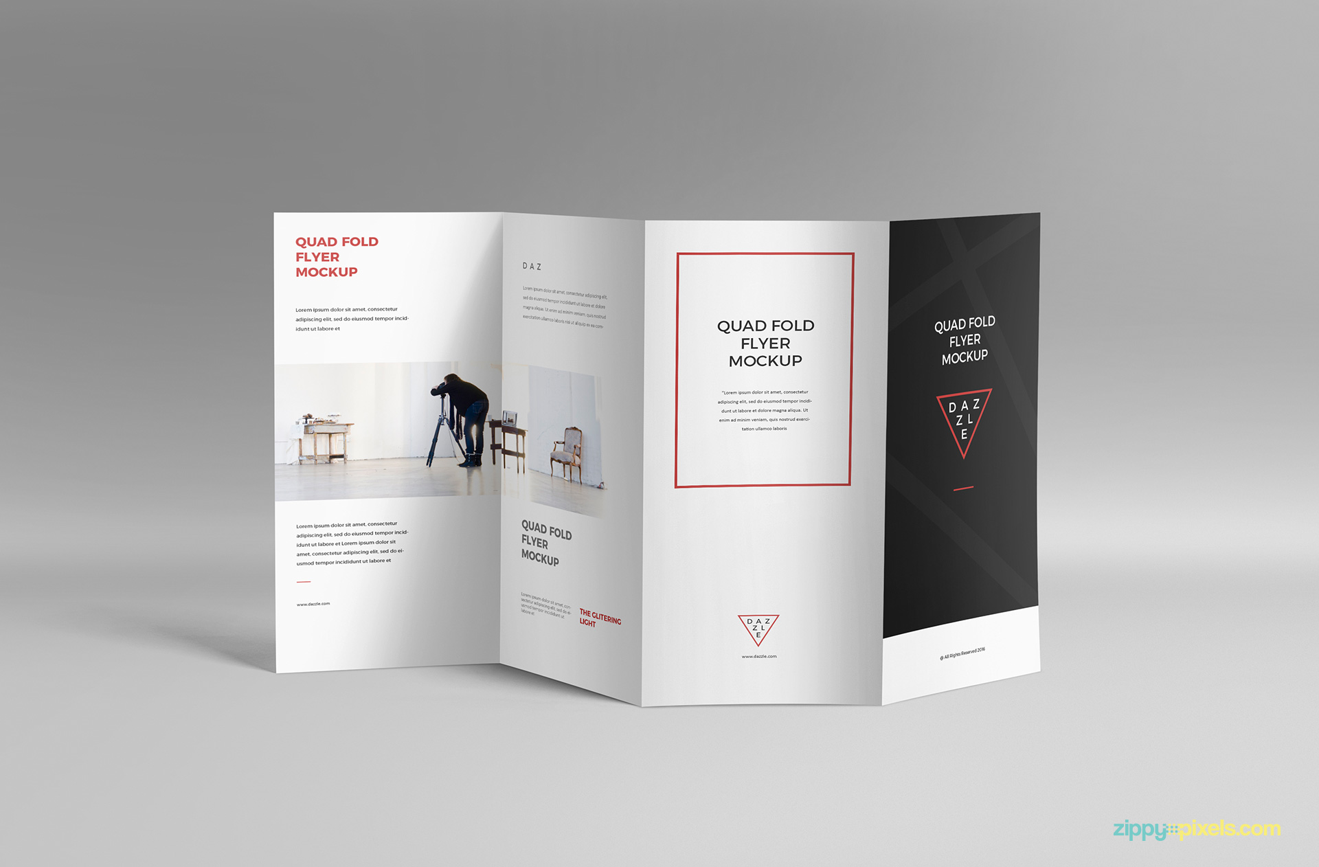 PSD of the 4 Fold Brochure Mockup.