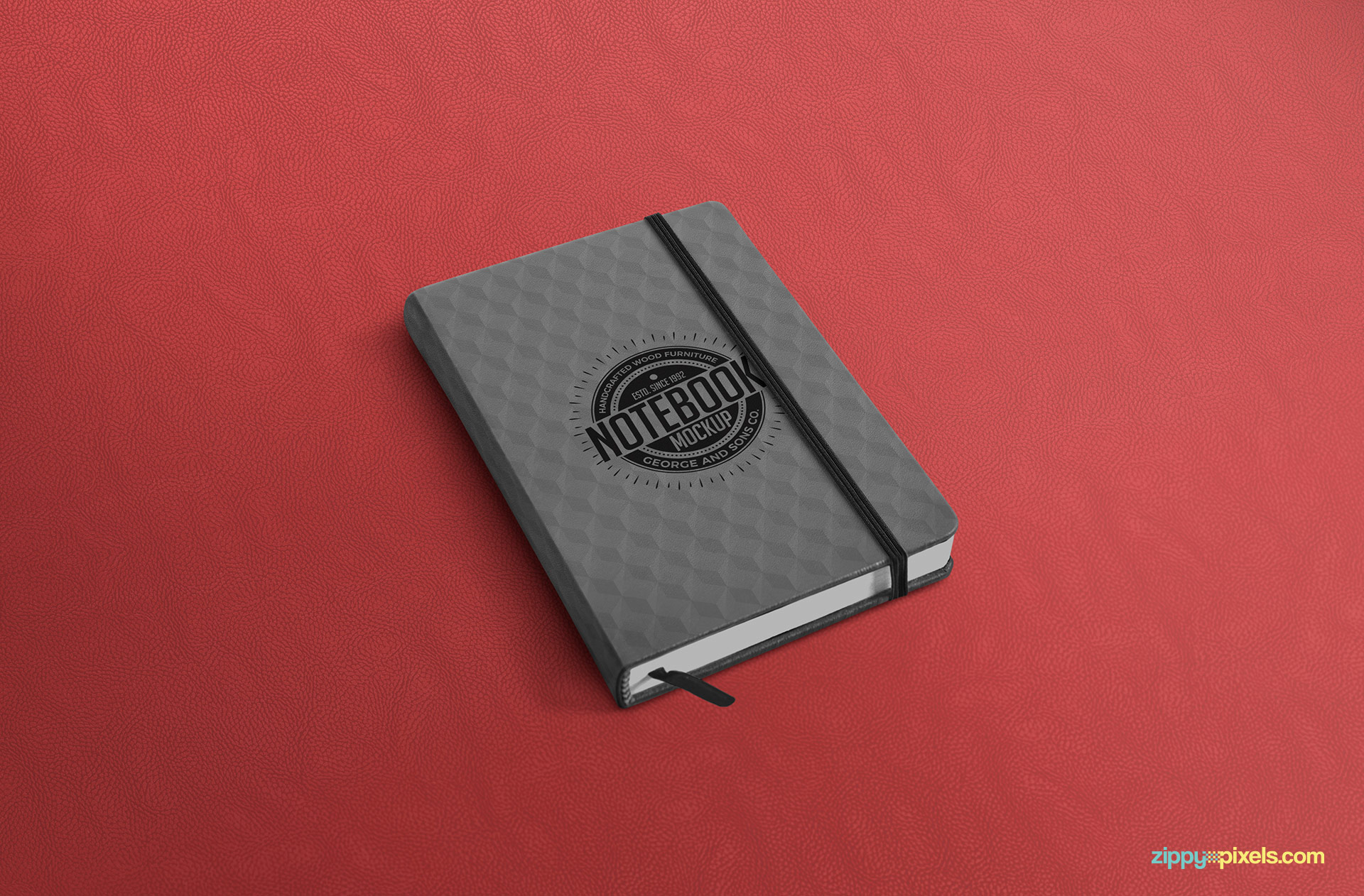 Beautifully designed notebook mockup PSD.