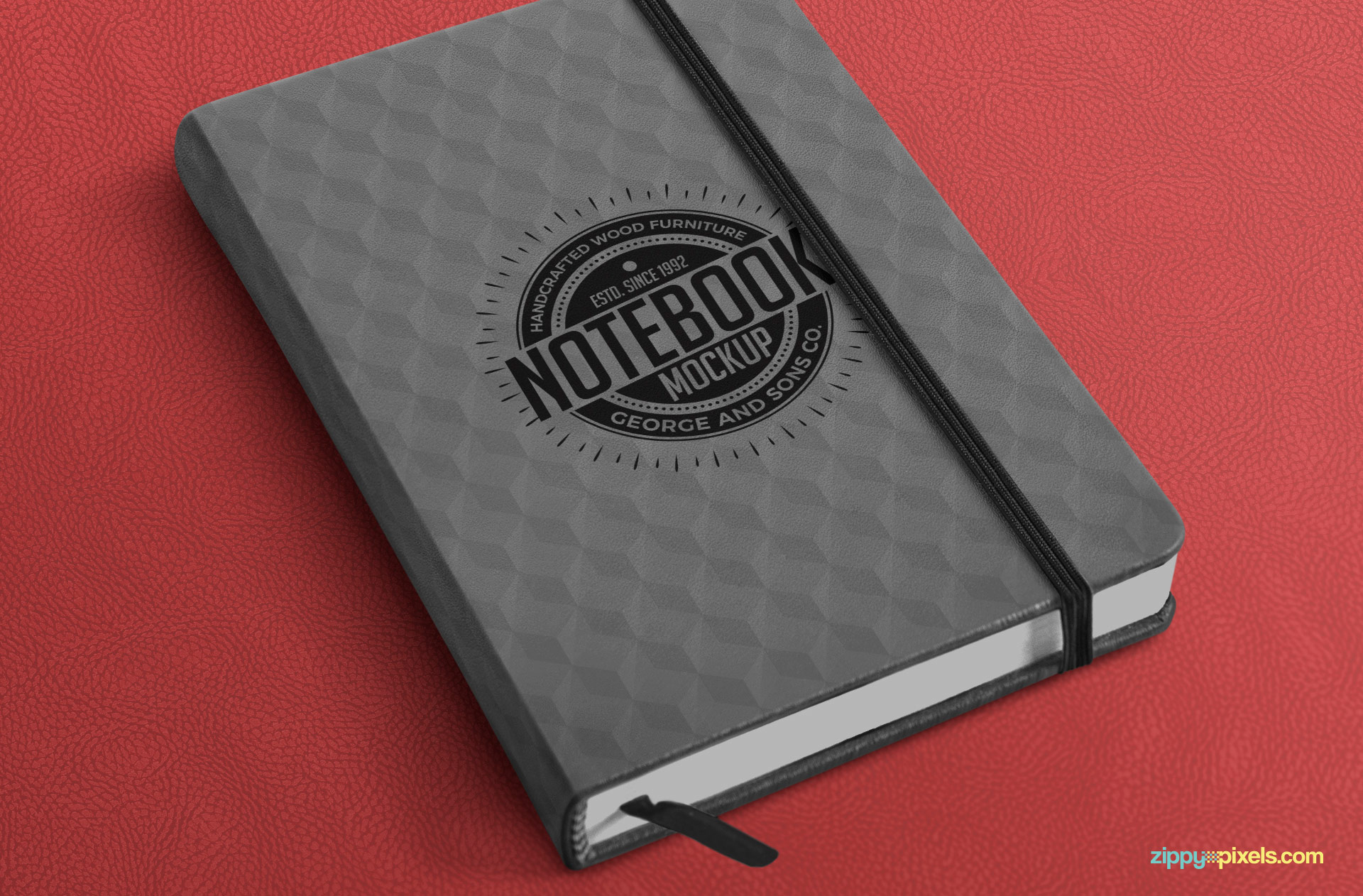 Very beautifully textured notebook mockup.